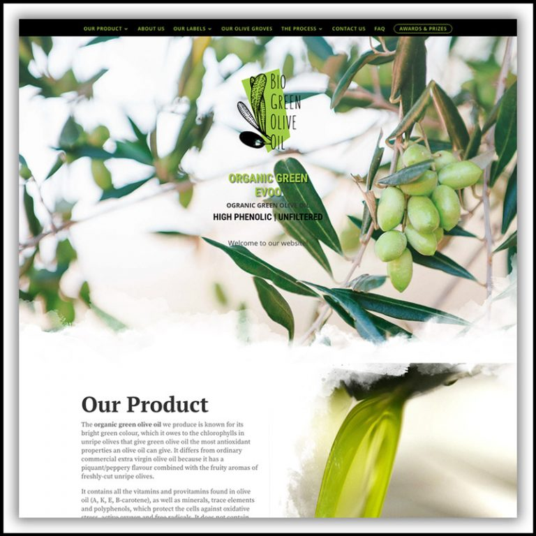 Bio Green Olive Oil – Branding & Website Design